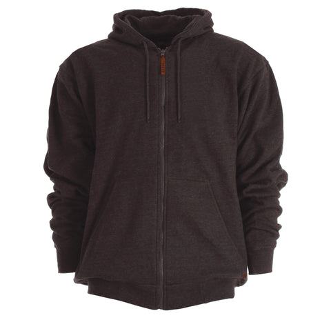 Berne Mens Charcoal Cotton Blend Hooded Sweatshirt