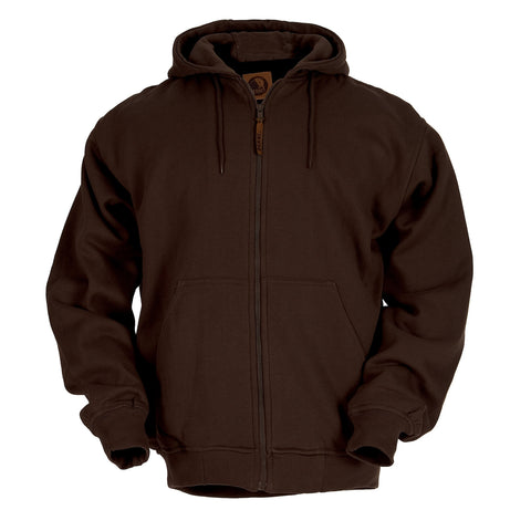 Berne Mens Dark Brown Fleece Hooded Sweatshirt