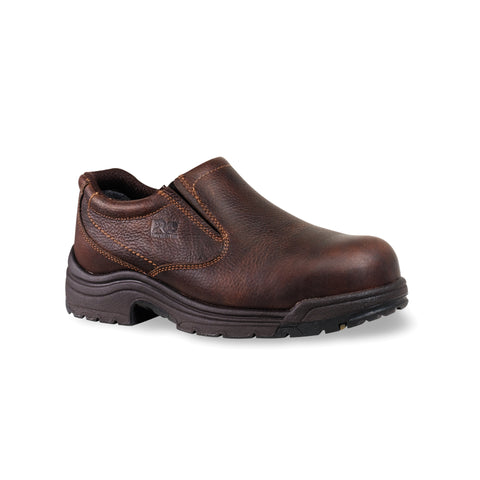 Timberland Pro Titan AT Mens Camel Brown Leather Work Shoes
