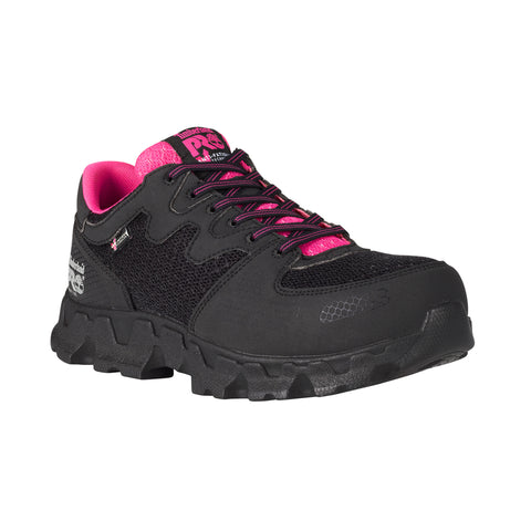 Timberland Pro Powertrain ESD Womens Black/Pink Synthetic Work Shoes