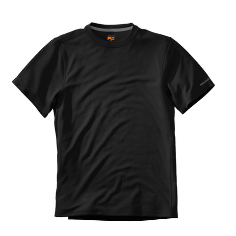 Timberland Pro Wicking Good T-Shirt Mens Jet Black Polyester Knit S/S