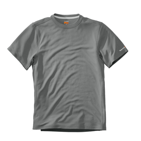 Timberland Pro Wicking Good T-Shirt Mens Dove Grey Polyester Knit S/S