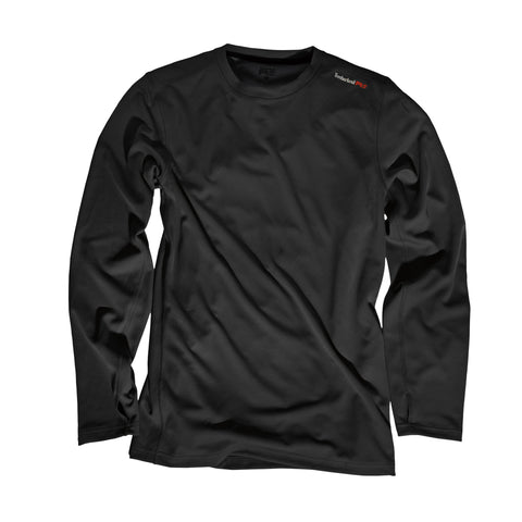 Timberland Pro Wicking Good L/S T-Shirt Mens Jet Black Polyester Knit