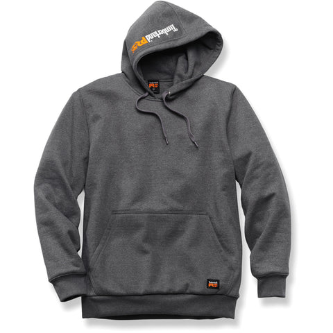 Timberland Pro Double-Duty Pullover Mens Charcoal Fleece Heavyweight Hoodie