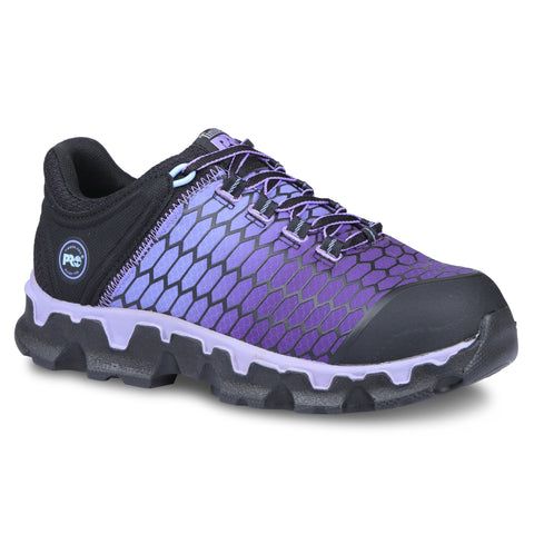 Timberland Pro Powertrain AT SD Womens Black/Purple Ripstop Work Shoes
