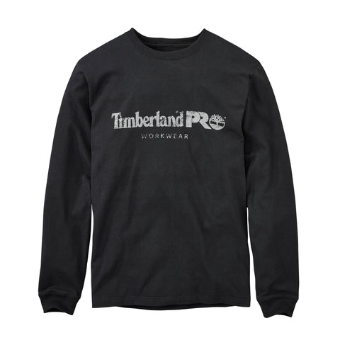 Timberland Pro Cotton Core Mens Jet Black 100% Cotton Logo T-Shirt