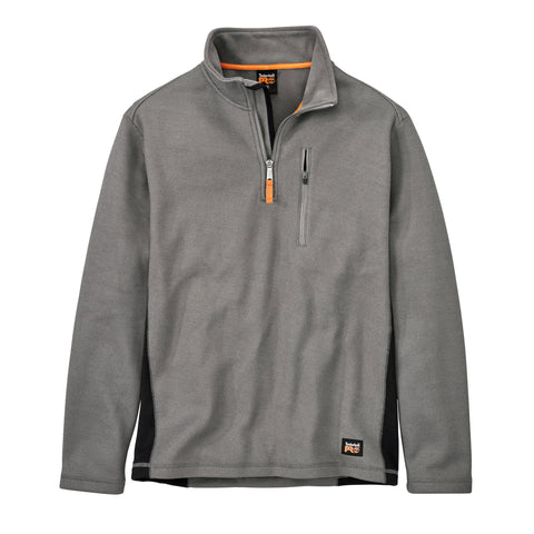Timberland Pro Studwall 1/4 Zip Mens Pewter Textured Fleece Shirt