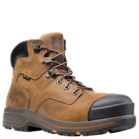 Timberland Pro Helix HD 6in CT Mens Brown Leather WP Work Boots