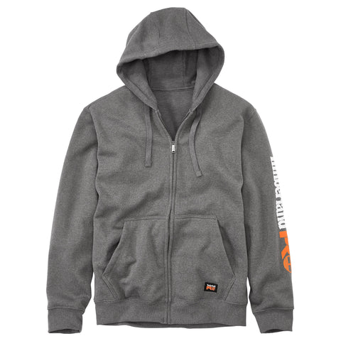Timberland Pro Hood Honcho Mens Charcoal Heather Fleece Full-Zip Hoodie