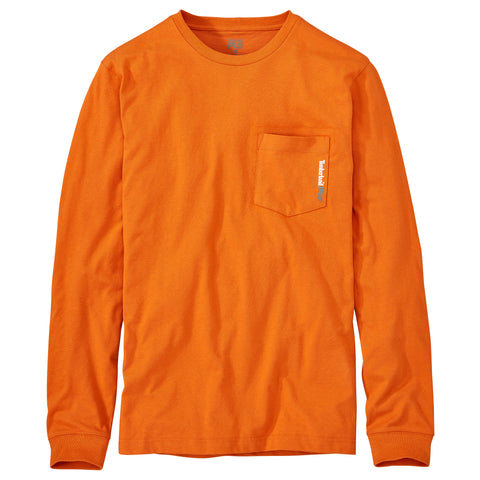 Timberland Pro Base Plate Mens Burnt Orange Cotton Blend Pocket T-Shirt