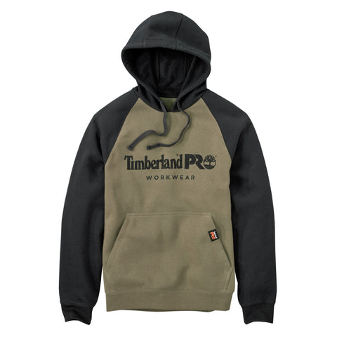 Timberland Pro Honcho Sport Mens Burnt Olive Cotton Blend Hoodie