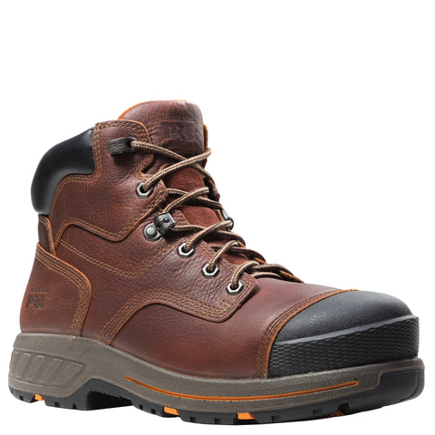 Timberland Pro Helix HD 6in CT Mens Mahogany Leather WP Work Boots