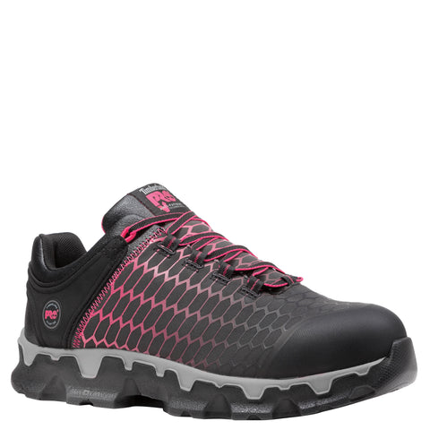 Timberland Pro Powertrain AT EH Womens Black/Pink Polyester Work Shoes