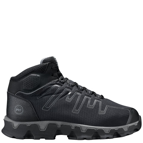 Timberland Pro Powertrain Mid AT Mens Black/Grey Nylon Work Shoes
