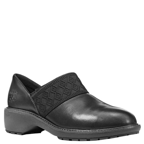 Timberland Pro Riveter AT SD Womens Black Leather Slip-On Work Shoes