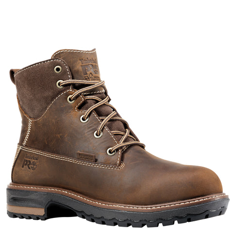 Timberland Pro Hightower 6in AT Womens Dark Brown Leather WP Work Boots