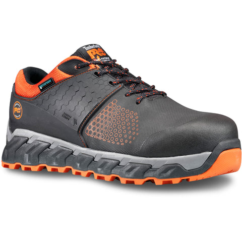 Timberland Pro Ridgework CT Mens Black/Orange Everguard Leather WP Work Shoes