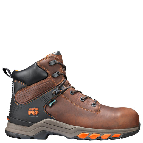 Timberland Pro Hypercharge 6in CT Mens Brown Leather Work Boots