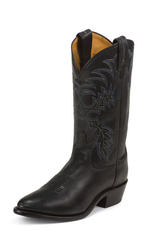 Tony Lama Mens Black Stallion Leather 12in USA Western Boots