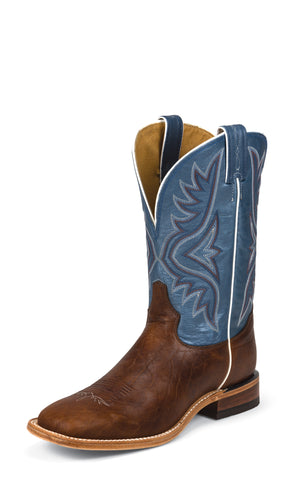 Tony Lama Mens Pecan Bison Leather 11in Americana Western Boots