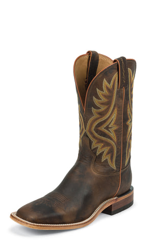 Tony Lama Mens Tan Worn Goat Leather 11in Americana Western Boots