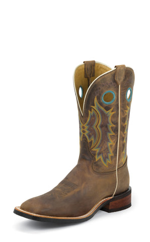 Tony Lama Mens Suntan Century Leather Americana 11in Western Boots