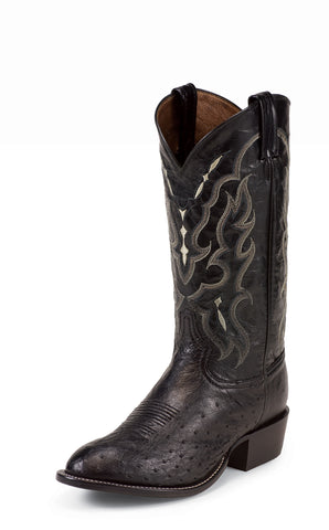 Tony Lama Mens Black Smooth Ostrich Goat Leather 13in Western Boots