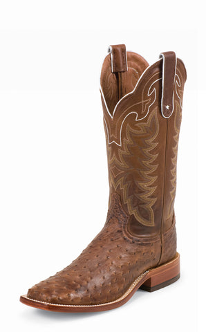 Tony Lama Mens Chocolate Vintage Ostrich Thoroughbred 13in Western Boots