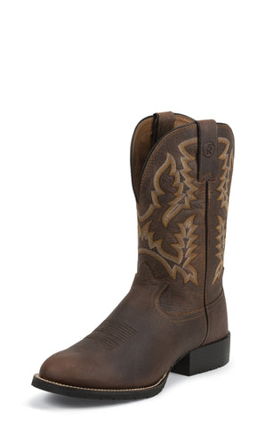 Tony Lama Mens Brown Pitstop Leather 3R 11in Western Boots