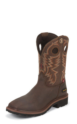 Tony Lama Mens Briar Grizzly W/P Composition Toe Leather Work Boots
