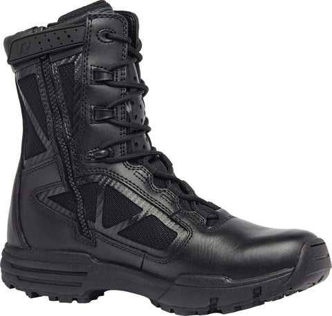 Belleville Tactical Research 8in Hot Weather Zip Boots TR918Z Black Leather
