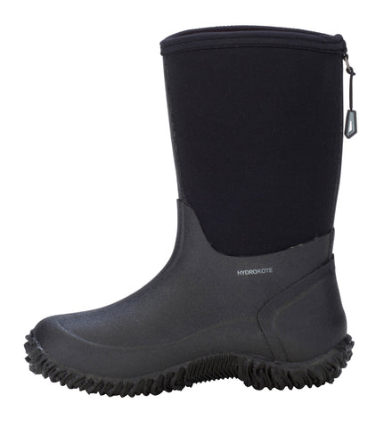 Dryshod Boys Tuffy Mid/Hi Kids Foam Black/Grey Farm Boots