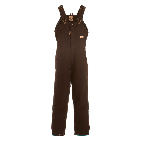 Berne Ladies Dark Brown 100% Cotton Ladies Insulated Bib Overall