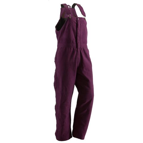 Berne Ladies Plum 100% Cotton Ladies Insulated Bib Overall