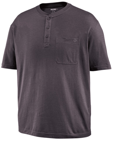 Wolverine Mens Granite Cotton Blend Knox Henley S/S T-Shirt