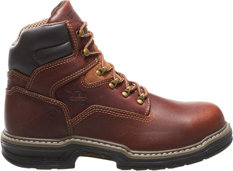 Wolverine Mens Brown Leather Raider 6in Work Boots