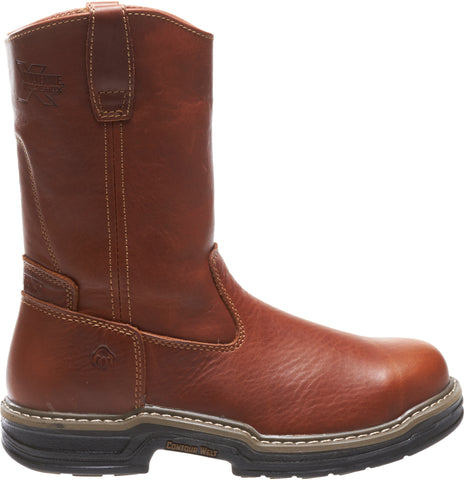 Wolverine Mens Brown Leather Raider 10in Wellington ST Work Boots