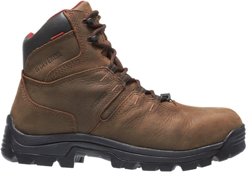 Wolverine Mens Brown Leather Bonaventure 6in WP Work Boots