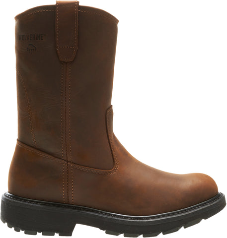 Wolverine Mens Dark Brown Leather 10in Wellington SR Work Boots