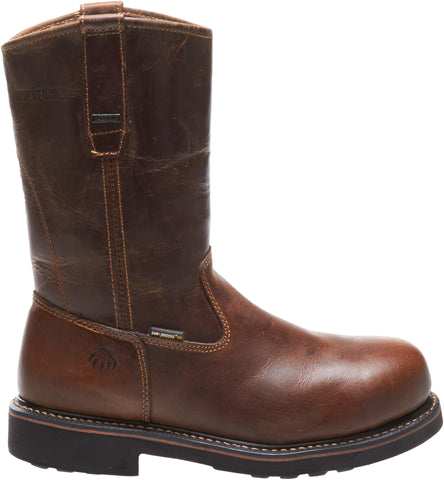 Wolverine Mens Dark Brown Leather Brek ST EH Wellington Work Boots