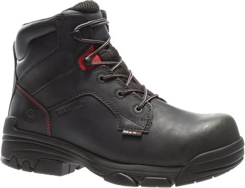 Wolverine Mens Black Leather Merlin WP CT EH Work Boots