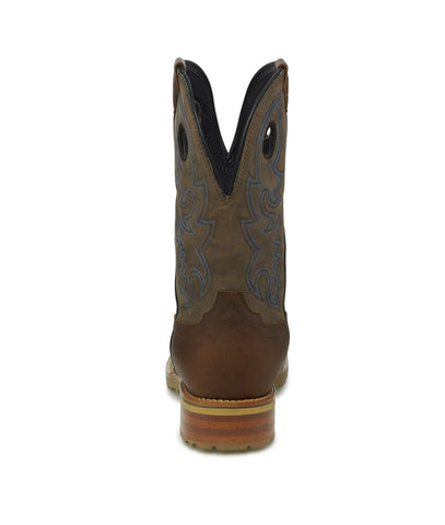 Justin 11in WP EH Mens Gunbarrel Grey Marshall Leather Work Boots
