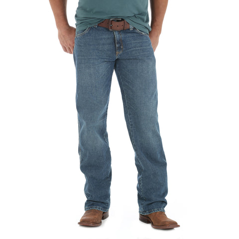 Wrangler Mens Creek Wash 100% Cotton Retro Lewisburg Jeans