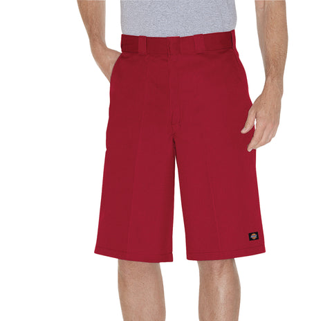 Dickies Mens English Red 13In Loose Fit Multi-Use Pocket Work Short