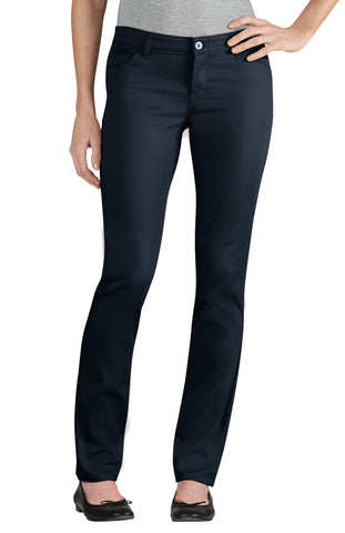 Dickies Girls Dark Navy Skinny Fit Straight Leg 5-Pocket Pants