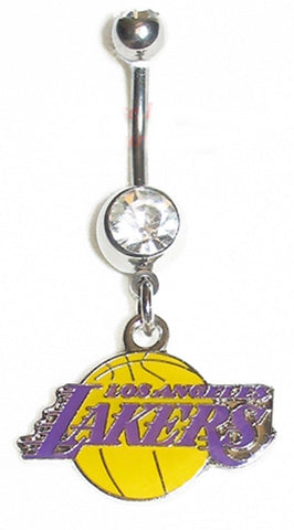 Belly Ring NBA Basketball Los Angeles Lakers Sports Dangle Body Jewelry