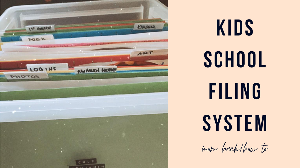 MOM HACK: Kids School Filing System