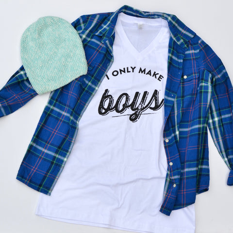 THE ORIGINAL I Only Make Boys® Mens/Womens [V Neck]