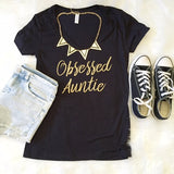 Obsessed Auntie [Black + Gold]