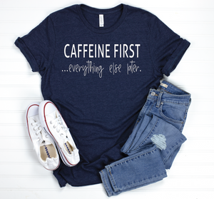 PREORDER Caffeine First [Heather Midnight Navy Crewneck]